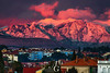 Final Act of the Day (TranceVelebit) Tags: hrvatska croatia dalmatia dalmacija zadar velebit dinaricalps dinaridi adriatic mediterranean city cityscape houses buildings mountain mountains peaks peak snow snowy winter sunset glow alpenglow red clouds cloud cloudscape