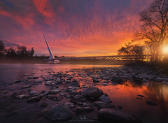 Sundial Bridge Sunrise - Redding, CA (wesome) Tags: adamattoun sundialbridge redding