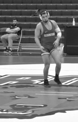 BRO-STA 165 2018-01-13 DSC_8401 bw (bix02138) Tags: brownuniversity brownbears stanforduniversity stanfordcardinal pizzitolasportscenter pizzitolasportscenterbrownuniversity providenceri january13 2018 wrestling sports intercollegiateathletics athletes jocks ©2018lewisbrianday 165pounds 165 jonviruet jaredhill