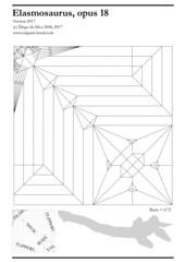 CP from Elasmosaurus, opus 18 (origami_artist_diego) Tags: origami elasmosaurus cp creasepattern prehistoric