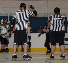 IMG_8761 crop 1 (KORfan) Tags: rollerderby barbedwirebetties cabinfeverscrimmage referees officials