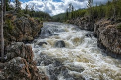 Firehole River Cascades (Philip Kuntz) Tags: fireholeriver fireholerivercanyon river gorge chasm cascades yellowstone wyoming