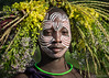 Flowers of the Suri (Sue MacCallum-Stewart) Tags: africa ethiopia omovalley flowers suri girl portrait tribe facepaint