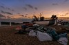 Beach clutter (James Waghorn) Tags: sigma1020f456 hastings beach nikon d7100 topazclarity net sunset thestade pebbles boat winter eastsussex harbour clouds england fishing clutter