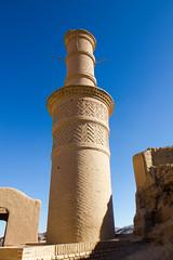 Kharanaq (enrico.gh) Tags: dashte kavir iran deserto desert minareto minaret kharanaq adobe mudbrick villaggio village