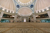 Federal Territory Mosque, Kuala Lumpur. February 2018 (Nur Ismail Photography) Tags: masjid mosque placeofworship architecture interior dome underside islamicarchitecture decorations speakers lights motives divine religion islam muslim prayerhall