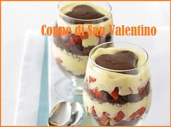 Coppe con fragole e cioccolato, ricetta di San Valentino (RicetteItalia) Tags: dolce fragole cioccolato san valentin