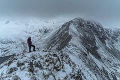 'Bwlch Eryl Farchog' - Snowdonia (Kristofer Williams) Tags: snowdonia winter snow ice landscape ridge bwlcherylfarchog penyrhelgiddu mountain mountains wales ogwenvalley cloud