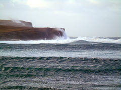 Rough sea at the bat of Skail (stuartcroy) Tags: orkney island rough sea beautiful bay skail scotland sony scenery sky water weather white waves winter