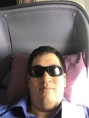 Lie-flat seat (Khunpaul3) Tags: thai airways b777200er hstjt tg621 aircraft aeroplane airplane aviation boeing royal silk class avgeek seat selfie