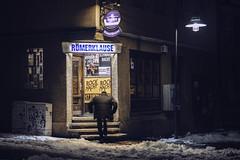 Winter.Pub (.ralf.kuehn.) Tags: winter cold snow schnee dark mft lumix sigma 30mm14 gx8 pub gebäude hinweisschild fenster