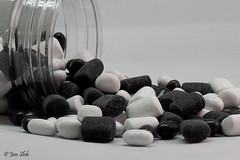 Candy (Jan Slob) Tags: candy sweets snoep snoepgoed drop zoetigheid zwartwit macro nikon nikond750 ©allrightsreserved nikonafs105mmf28gifedvrmicro onpurewhite smileonsaturday