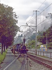 R8375.  4-2-0 LIMMAT. (Ron Fisher) Tags: sbb sbbcffffs switzerland swissrailways sbbhistoric steam steamlocomotive steamengine dampflok locomotive locomotiveàvapeur transport train sonderzug zug schweiz suisse lasuisse dieschweiz schweizerischeeisenbahnen eisenbahneninderschweiz railwaysofswitzerland eisenbahn chemindefer rail railway railroad 420 limmat