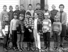 Class photo (theirhistory) Tags: children boy kids school group form teacher jumper trousers skirt wellies shoes boots