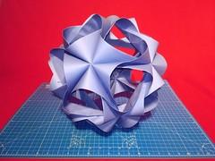 A4 Undina Kusudama (ISO_rigami) Tags: modular origami 3d a4 kusudama mariasinayskaya rectangular eckhardhennig