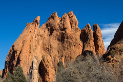 Garden of the Gods, Colorado Springs, CO (Photos By Clark) Tags: northamerica canon60d colorado coloradosprings canon2470 unitedstates christmas location events locale places where us park red blue clouds white