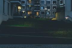 Up and down in Vienna's Seestadt (pixelphoto.eu) Tags: walk filter lightroom 50mm f12 550d eos canon architecture urban city grass building house way stairs lowlight altesflugfeld 1220 seestadt aspern vienna wien österreich austria