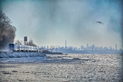 The Hudson Line (JMS2) Tags: scenic ice winter hudsonriver mta metronorth commute train commuter watertower skyline frozen