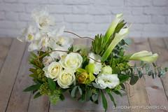 IMG_9138-3 (Garden Party Flowers) Tags: structuralwhiteandgreenarrangement calla cymbidium florist flowers vancouver whiteandgreenarrangement