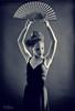 Niña con abanico (Enrique J. Mateos Mtnez) Tags: canon6d 85mm12l danza bw monocromo elinchrom estudio spain dance spanish abanico dancer bailarina