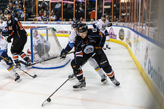 "Kansas City Mavericks vs. Toledo Walleye, January 21, 2018, Silverstein Eye Centers Arena, Independence, Missouri.  Photo: © John Howe / Howe Creative Photography, all rights reserved 2018. • <a style=""font-size:0.8em;"" href=""http://www.flickr.com/photos/134016632@N02/24969554827/"" target=""_blank"">View on Flickr</a>"