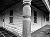 Wooden Verandah (Australia) (IDH Mackinnon) Tags: verandah wooden timber wood australia australian aussie victoria victorian 2016 black white melbourne fringe urban rural western house home homestead architecture architectural c1910 20th century twentieth 1900s