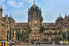 Mumbai Station (roevin | Urban Capture) Tags: mumbai maharashtra india in bombay city urban center street area downtown victoria building train station car bus taxi blue sky neighboorhood traffic architecture exterior heritage clock people