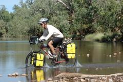 Crossing the Victoria River upstream, NT