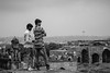 Lookout | Golconda | India (gaalvarezc) Tags: photography streetphotography stphotographia people india golconda fort bw blackwhite blackandwhite black white view lookout monochrome unexpected canon