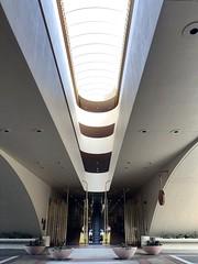Entrance, Marin County Civic Center (Melinda Stuart) Tags: oval door entry marin civiccenter atrium light design flw wright 1950s 1960s contemporary modern