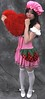 You Can Find A Better Heart (emotiroi auranaut) Tags: lovely girl woman lady heart valentinesday hoping hopeful sweet gorgeous attractive female feminine femininity pillow dress stockings white shoes red