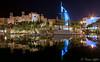 Burj al Arab Reflection (funtor) Tags: reflection night color city light building architecture dubai vae