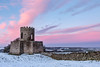 Pink at Oliver Duckett (matrobinsonphoto) Tags: oliver duckett ducketts folly richmond north yorkshire landscape countryside scenery scenic castle tower wall building old snow snowy snowed frozen winter wintry scene cold pink sunset dusk evening sky colours colourful blue hour night light view