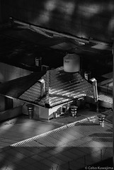 Moema, São Paulo (Celso Kuwajima) Tags: canoneos5 epsonv800 silverfastai building 20171135 80400mmf4556 roof tokina chimney analogphotography ilfordxp2super bw sãopaulo brazil br