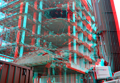 Sloop Terraced-tower Boompjes Rotterdam 3D (wim hoppenbrouwers) Tags: sloop terracedtower boompjes rotterdam 3d anaglyph stereo redcyan