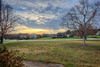 Sunset - Anderson S.C. (DT's Photo Site - Anderson S.C.) Tags: canon 6d 1740mml lens upstate andersonsc southcarolina hdr tonemapped yard early spring sunset clouds colorful red storm scenic landscape america usa bradfordpear blooms street rural country roads