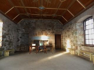 Dining Room, Dunnottar Castle, Stonehaven, Jan 2018
