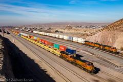 BNSF 7675 East: Unknown Intermodal at Barstow, California (Z-Trains) Tags: trains train railfan railfanning barstow barstowrailfan cajon needles bnsf up unionpacific