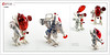 Raptor series: Aliens (Brixnspace) Tags: raptor walker frame powersuit suit lego moc toy biped crait red white alien
