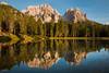 Enchanting sunset on The Alps (luigig75) Tags: alpi dolomiti trentinoaltoadige canonefs1022mmf3545usm canon 70d antorno reflections lake mountains lago montagne landscape italy italia cadinidimisurina