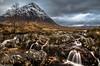 A well trodden path. (AlbOst) Tags: glencoe rannochmoor glenetive buachailleetivemor scottishhighlands streams rivers winter snowcapped mountainpeaks snowcoveredmountains scottishmountains coupallfalls