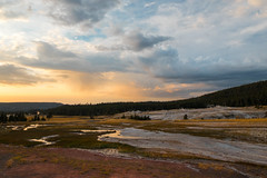 Faithfully, There. (luminous__photography) Tags: national parks yellowstone landscape nature outdoors clouds storm travels usa nationalparks yellowstonenationalpark reflections sunset sunrise colors colours