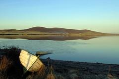 Boat (stuartcroy) Tags: orkney island reflection loch kirbister scotland scenery sony sky beautiful blue bay beach boat