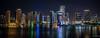 2017 - Regent Cruise - Port of Miami (Ted's photos - For Me & You) Tags: 2017 cropped miami nikon nikond750 nikonfx regentcruise tedmcgrath tedsphotos vignetting reflection waterreflection nightscene nightlighting sevenseasexplorer portofmiami highrise buildings wideangle widescreen