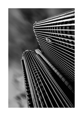 Torre Europa (Madrid) (protsalke) Tags: monochrome blackandwhite madrid towers architecture lights shadows clouds sky composition