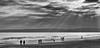 Sunday stroll (DaneGardner) Tags: dorset poole blackandwhite clouds cloudsstormssunsetssunrises beach sea sandbanks
