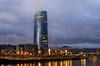 Torre Iberdrola (Bilbao) (Enfo-Carlos) Tags: cityscape skyline city skyscraper dusk bridge downtowndistrict streetlight dresdnerbank marinabay financialdistrict bilbao nikon d7000