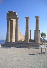 Lindos - Tempio (Orange Attitude) Tags: greece rodi rhodos tempio temple greek sky blue monument history