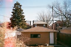 Garage (spablab) Tags: gaf memo 35mm film ee chicago c41 rangefinder walgreens expired 200 lightleak light leak garage