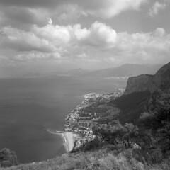 A view from Monte Pellegrino - Palermo - May 2013 (cava961) Tags: sicily sicilia palermo analogue analogico monochrome monocromo bianconero bw 6x6